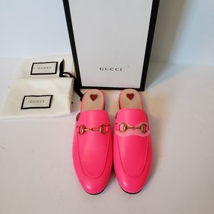 Stunning GUCCI PRINCETON neon pink loafers sz35